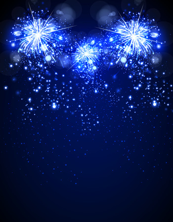 Happy New Year fireworks background Vektorové ilustrace