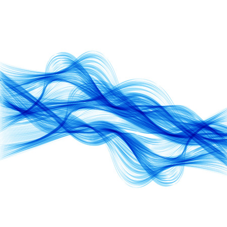 fryer: Abstract background with colored lines and waves, easy all editable Illustration