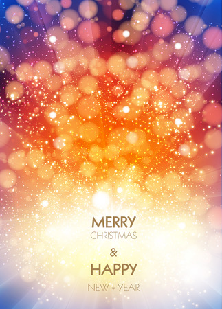 New year and christmas greeting card design