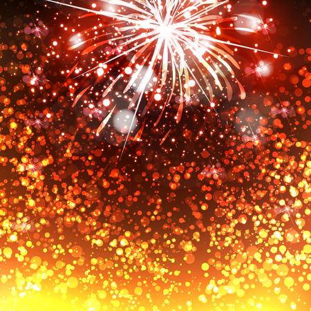 Happy New Year celebration background fireworks Vektorové ilustrace