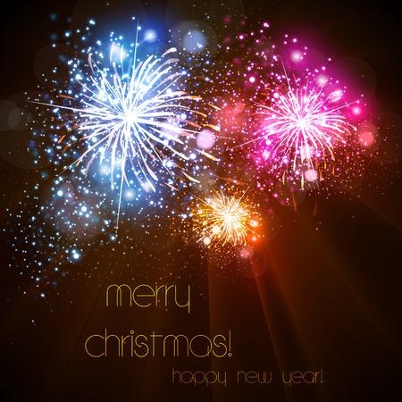 Happy New Year celebration background easy all editable Vektorové ilustrace