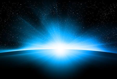 astronomy: Astronomy sunrise easy all editable