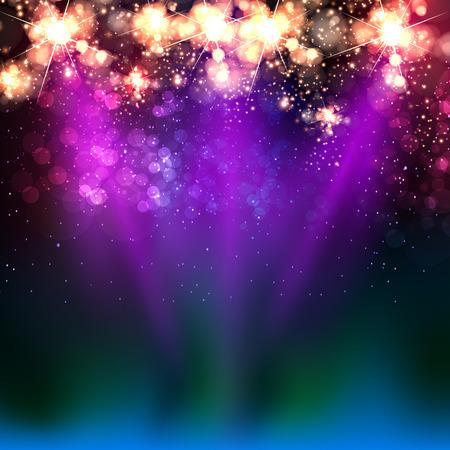 couleur néon étape de la lumière de fond