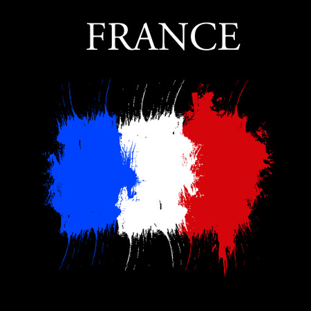 french: French flag stroke background