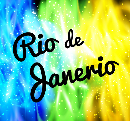 Rio de Janeiro background neon colors