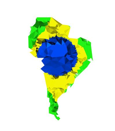 South america geometric polygonal style Illustration