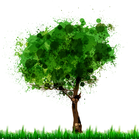 nature banner with tree easy editable