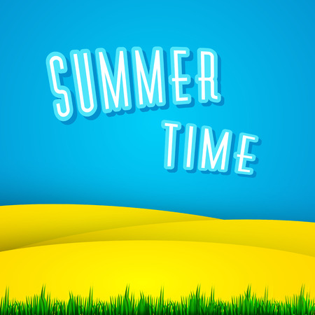 beautiful summer cover poster label