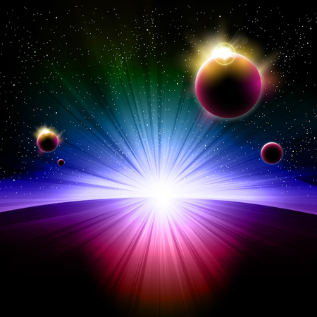 Astronomy sky planet sunrise easy all editable
