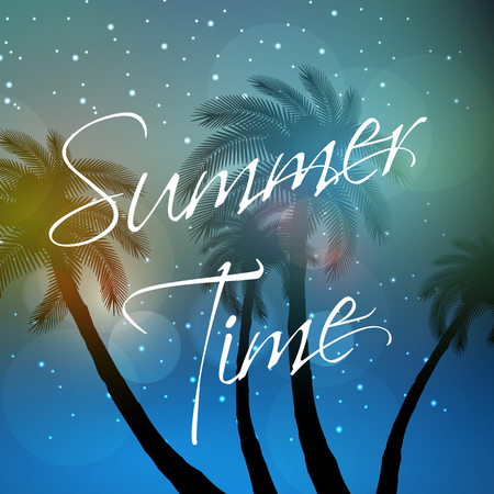 Summer time, palm, sky, travel, background, party