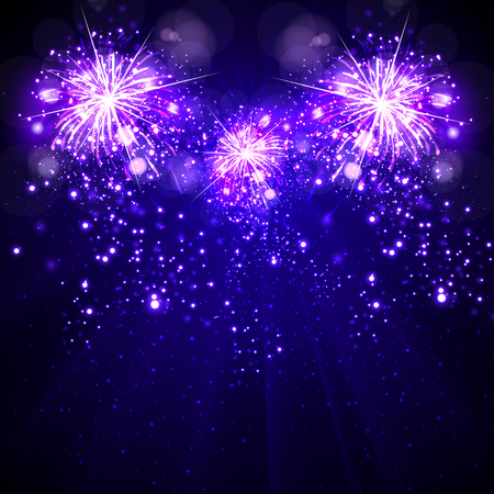 Happy New Year background, fireworks