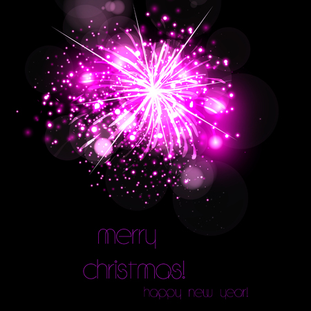 Happy New Year template easy all editable Illustration