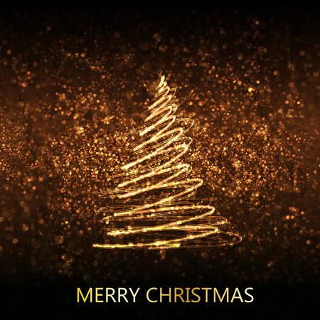 Merry christmas tree easy editable