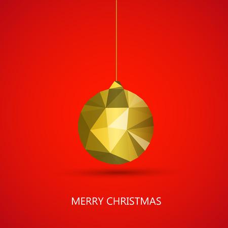 Merry christmas ball easy editable Illustration