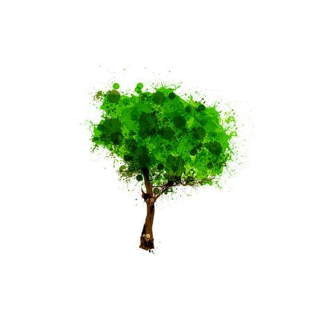 Tree vector logo design template, easy editable