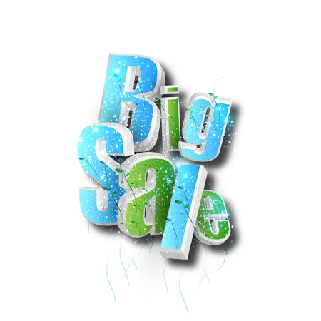 Big Sale concept, abstract label banner