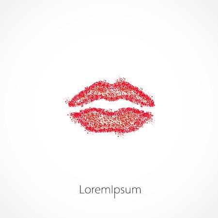 lips illustration template logo, easy editable Ilustrace