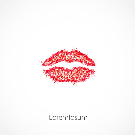lips illustration template logo, easy editable Illustration