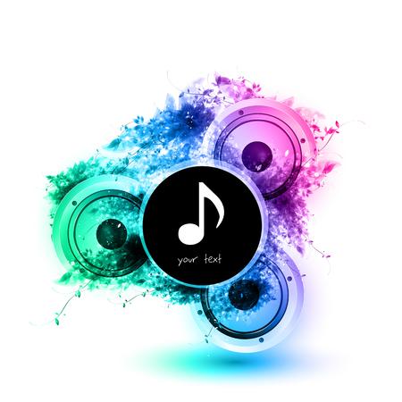 subwoofer: Musical speakers background, easy all editable Illustration