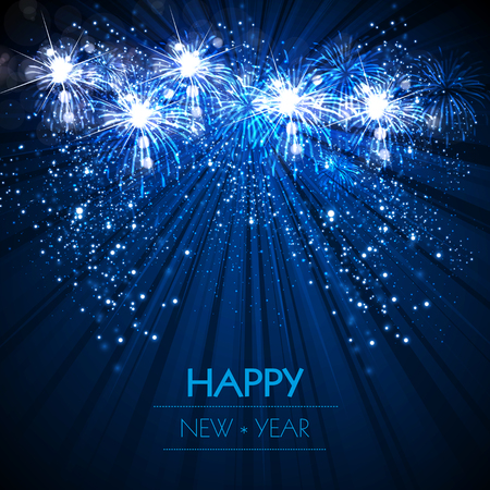 Happy New Year easy all editable Vector illustration.