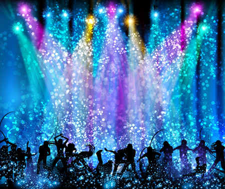 Party background party, disco, dance, scene easy all editable