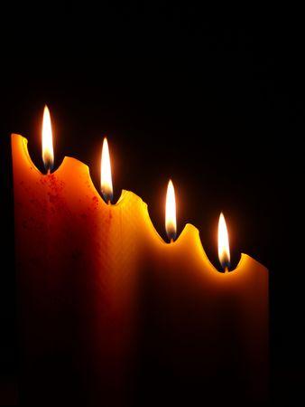 Una candela nel buio Archivio Fotografico - 6246148