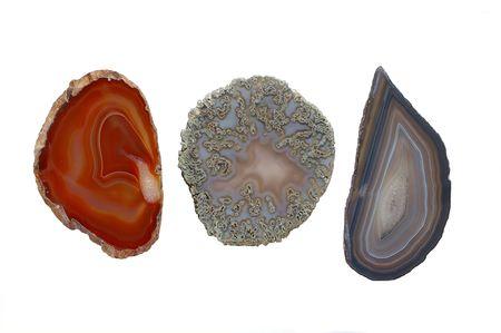 Three agates Stock Photo