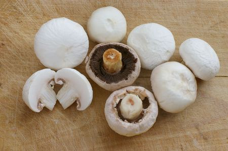 Button mushroom Stock Photo