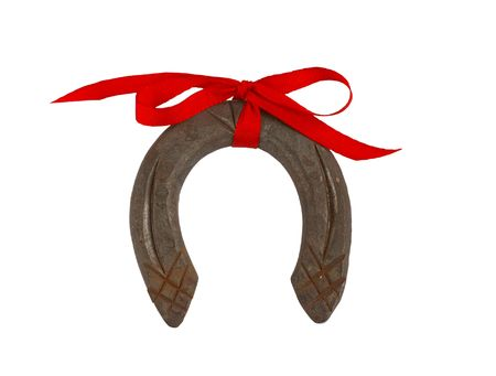 Horseshoe with a ribbon - symbol of happiness