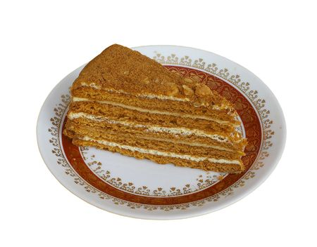 Honey cake isolated