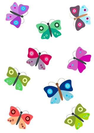 Farfalle - illustrazione Archivio Fotografico - 6414120