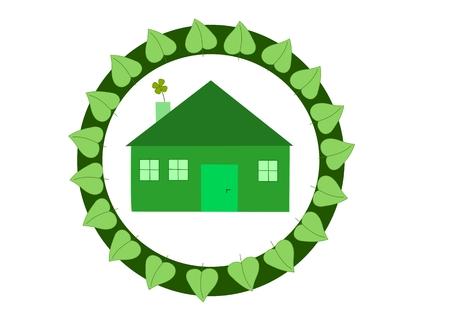 Casa ecologica - logo Archivio Fotografico - 6426520