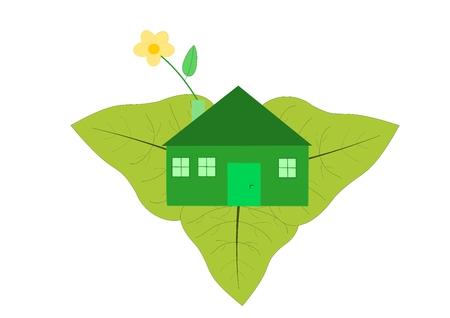 Casa ecologica - logo Archivio Fotografico - 6426519