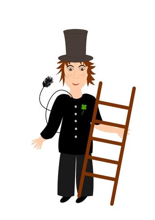 Chimney sweeper - illustration Stock Vector - 6469442