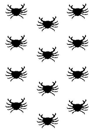 Crab background - black and white Stock Photo