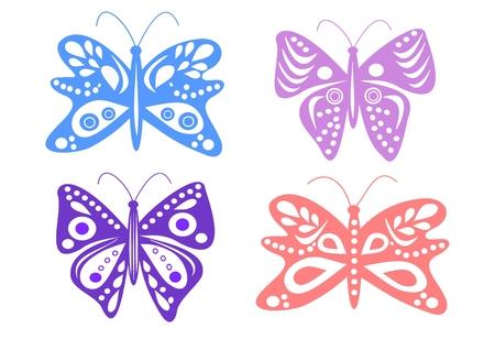 Decorazione di primavera - farfalle in colori tenui Archivio Fotografico - 6469484