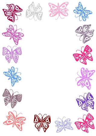 Butterflies frame Stock Illustratie
