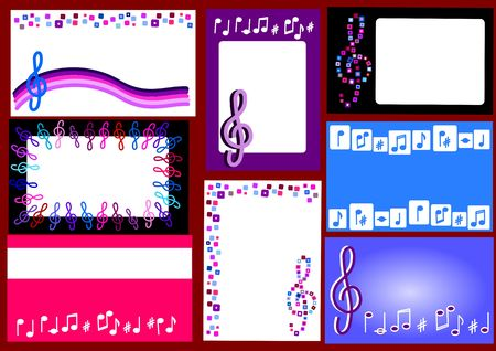 Businnes cards with musical motives - suitable for musicians, music schools or music teachers photo