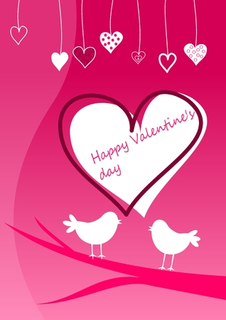 valentine�s day greeting card Illustration