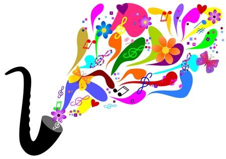 Sixties music - saxophone Stock Vector - 11674115