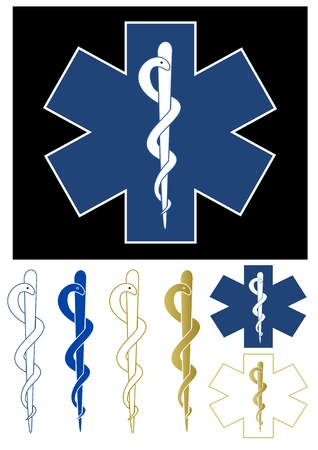 hospital staff: Medical symbol - Star of Life Illustration