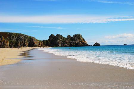 porthcurno: Porthcurno beach, Cornwall