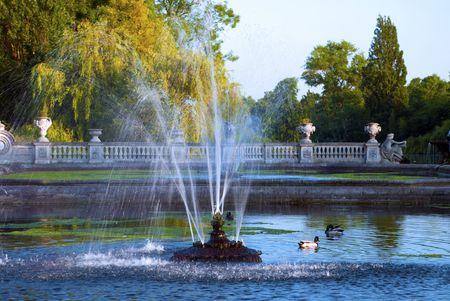 Fountain in Italian Gardens, Hyde Park London
