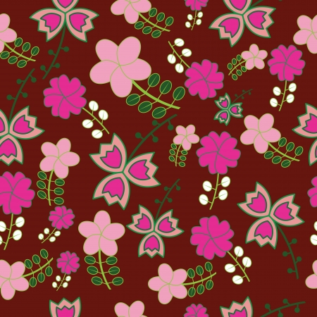 Seamless naive floral vector repeat background EPS 10 Vector