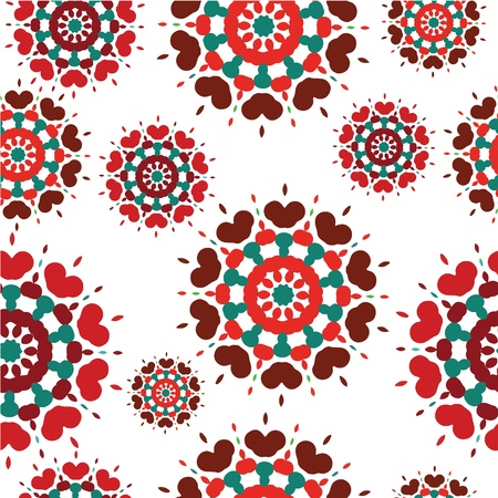 Seamless retro kaleidoscope flower background pattern EPS 10 Stock Vector - 16587060