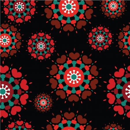 Seamless retro kaleidoscope flower background pattern Stock Vector - 16592178