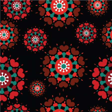Seamless retro kaleidoscope flower background pattern Stock Vector - 16592178