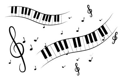 treble clef: Treble clef background Illustration