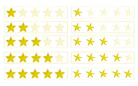 evaluation: Bewertung Sternen Illustration
