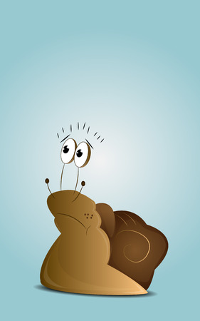 sorrowful: Cartoon sad snail